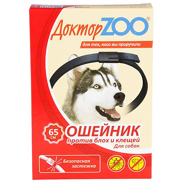 Доктор ZOO ошейник от блох и клещей для взрослых собак и щенков